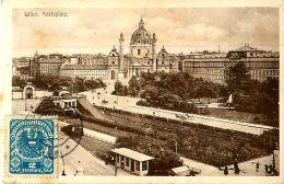 Cpa AUTRICHE - WIEN - Karlsplatz - Timbre - Ohne Zuordnung