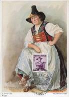 10616 AUSTRIA, Maximum  1958   Tiroler Trachten,  5s.  Austrian Tirol Costume - Maximumkarten (MC)
