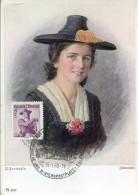 10617 AUSTRIA, Maximum  1958   Tiroler Trachten,  5s.  Austrian Tirol Costume - Maximumkarten (MC)
