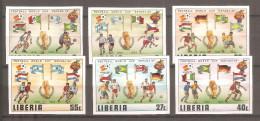 Serie Sin Dentar De   Liberia - Coupe Du Monde