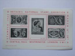 GB 1962 STAMPEX 1962 EXHIBITION SHEET MNH - 1952-.... (Elizabeth II)