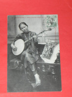 INDOCHINE  / TONKIN /  VIET NAM  /   1906   ANNAMITE METIER  MUSICIEN GUITARE   CIRC  OUI - Viêt-Nam
