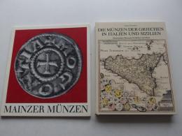 Mainzer Münzen , 1982 , Die Münzen Der Griechen In Italien Und Sizilien , 2 Bände - Numismatik / Münzkunde , Mainz !!! - Sammlungen