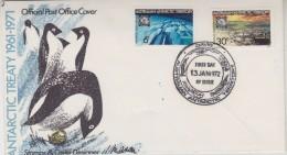 AAT 1972 Antarctic Treaty 2v FDC Ca Davis (30769) - FDC