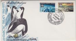 AAT 1972 Antarctic Treaty 2v FDC Ca Casey (30770) - FDC