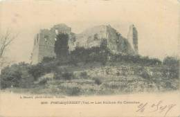 "CPA FRANCE 83 "" Forcalqueiret, Les Ruines Du Château"" - Altri Comuni"