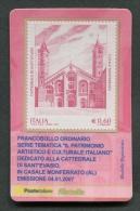 ITALIA TESSERA FILATELICA 2007 - CATTEDRALE DI SAN´EVASIO CASALE MONFERRATO ALESSANDRIA - 158 - 6. 1946-.. Republik