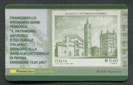 ITALIA TESSERA FILATELICA 2007 - BASILICA CATTEDRALE DI PARMA - 169 - 6. 1946-.. Republik