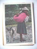 Mexico La Esperanza Girl And Dog - Mexico
