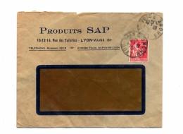 Lettre Cachet Lyon Vaise Entete Produit Sap - Marcophilie (Lettres)