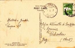 Ansichtskarte 1937 Von Jerusalem Nach Palombaro/Italien (l031) - Palestine