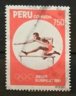 1984. PERÚ. JUEGOS OLÍMPICOS LOS ANGELES - ATLETISMO. USADO - USED. - Peru