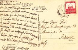 Ansichtskarte 1934 Von Jerusalem Nach Firenze/Italien (l034) - Palestine