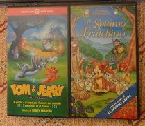 2 VHS CARTONI ANIMATI - IL SETTIMO FRATELLINO - TOM E JERRY - - Cartoni Animati