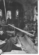 Cantonnement Allemand Dans Une église Soldats à Table Dortoir 1 Photo Allemande 1914-1918 14-18 Ww1 Wk1 - War, Military