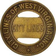 États-Unis, City Lines Of West Virginia Incorporated, Token - Professionnels/De Société