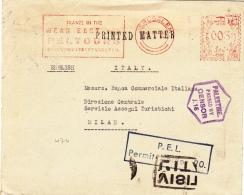 Drucksache 1940 Von Jerusalem Nach Milano/Italien (l038) - Palestine