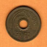 JAPAN   5 YEN 1962 (SHOWA 37) (Y # 72a) - Japan