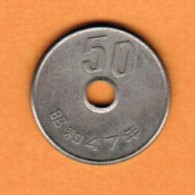 JAPAN   50 YEN 1972 (SHOWA 47) (Y # 81) - Japan