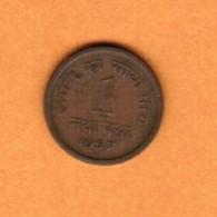 INDIA   1 NAYA PAISA 1957 HD (KM # 8) - India