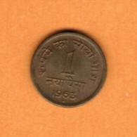 INDIA   1 NAYA PAISA 1963 B (KM # 8a) - India