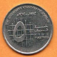 JORDAN   5 PIASTRES 1993 (AH 1413) (KM # 54) - Jordan