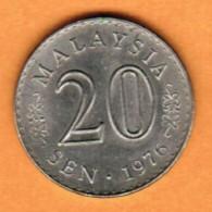 MALAYSIA  20 SEN 1976 (KM # 4) - Malaysie
