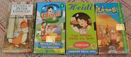 4 VHS CARTONI ANIMATI - HEIDI DISCORSI CON L'ALBERO- HEIDI UNA LETTERA DELLA ZIA DETE -I LUNES -STORIA DI PETER CONIGLIO - Cartoni Animati