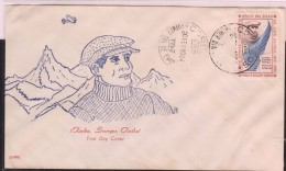 O) 1964 PERU, ENGINEER  JORGE CHAVEZ- AIRMAN FIRST IN THE ALPES CROSSING, FDC XF - Peru