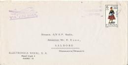 Spain Cover Sent Air Mail To Denmark Madrid 1-4-1969 Single Stamped - 1931-Heute: 2. Rep. - ... Juan Carlos I