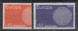 ANDORRE   1970                 EUROPA       N° 202 / 203      COTE   34 € 50          ( E 21 ) - Andorre Français