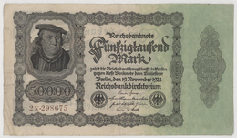 Fünfzigtausend  Mark / 50 000 Mark - Reichsbanknote - German Reich / Deutsches Reich - Year 1922 - [ 3] 1918-1933 : Weimar Republic