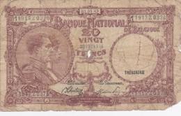 Banque Nationale De  BELGIQUE   TWINTIG  FRANK  1945. - [ 2] 1831-... : Belgian Kingdom