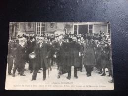11 - Palais De VERSAILLES - Signature Du Traité De Paix - Sortie De M Clemenceau, Wilson, Lloyd George Sur La Terrasse - Versailles (Château)