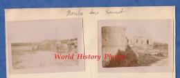 4 Photos Anciennes - MOULIN Sous TOUVENT ( Oise ) - Groupe De Poilu Aprés Combat - Eglise Et Village - WW1 - Oorlog, Militair