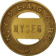 États-Unis, New-york, N.Y.S.E. & G. Corp., Elmira School, Token - Professionnels/De Société