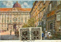 Cpa AUTRICHE - WIEN - HANS FISCHER- Wien I. Burghof - Timbres - Ohne Zuordnung