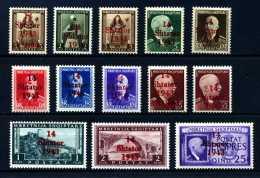 Z27394)Albanien 1-12, 14**, Feinst - Occupation 1938-45