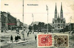 Cpa AUTRICHE - WIEN - Maximilianplatz - Timbres - Ohne Zuordnung