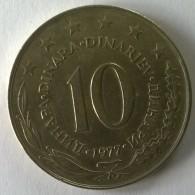 Monnaie -  Yougoslavie - 10 Dinara 1977 - - Yugoslavia