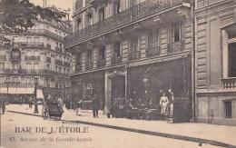 PARIS XVI°  BAR De L' ETOILE Terrasse Animé  Avenue De La Grande Armée Rue DURET Et LE SUEUR CAFE à La ROTONDE - Arrondissement: 16