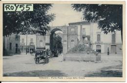 Abruzzo-teramo Porta Reale Bella Veduta Animatissima Anni 20/30 - Teramo