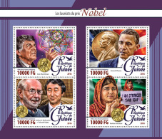 Guinee 2016 Nobel Prize For Peace Malala Pakistan Chemistry Physics S/S GU16219a - Celebrità