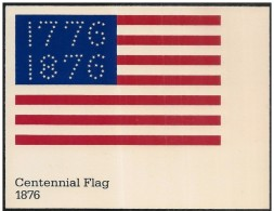Stati Uniti/États-Unis/United States: Intero, Stationery, Entier, Evoluzione Della Bandiera USA, Evolution Of USA Flag, - Buste