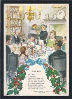 Christmas Dinner.Roasted Turkey.Power.Holly.Family.Poem Peter H.Melo.Full Postal Stationery.Fireplace.Candle Holder.2sca - Natale