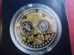 Superbe Médaille Argent Et Or - ITALIE - Première Frappe En Euro - BE - Italia