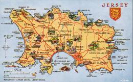 JERSEY  Carte De L'Ile - Jersey