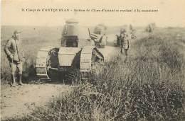 - Themes Divers -ref-M900- Militaria - Camp De Coequidan - Morbihan - Section Char D Assaut - Chars - Militaires - - Militaria