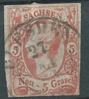 Saxe -  Yvert N°11 Oblitéré Ai21930