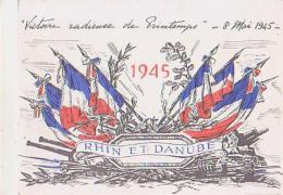 Militaria   H9         Victoire Radieuse De Printemps 8 Mai 1945 - Militaria
